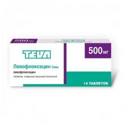 Левофлоксацин-Тева, табл. п/о пленочной 500 мг №14